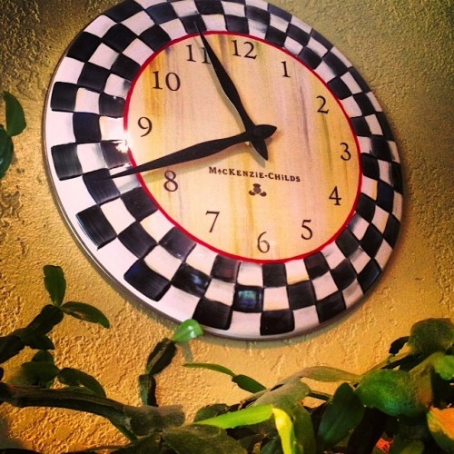 MacKenzie-Childs kitchen clock | Reluctant Entertainer