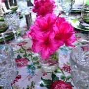 Rhododendron Tablescape