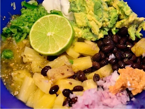 Bush's Black Bean Pineapple Guacamole