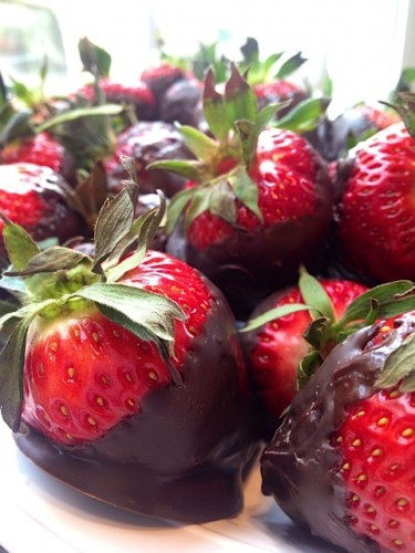 Chocolate Covered Strawberries & Sisters