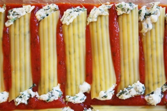 RecipeGirl's Spinach and Cheese Stuffed Manicotti is a great recipe ...