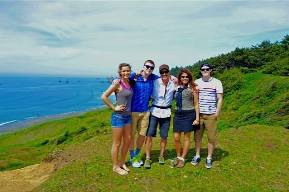 Family at Cape Blanco State Park