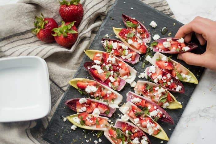 Easy Endive with Strawberry Mint Honey Recipe
