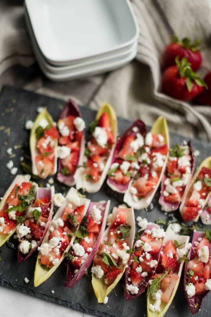 Simple Endive with Strawberry Mint Honey Recipe