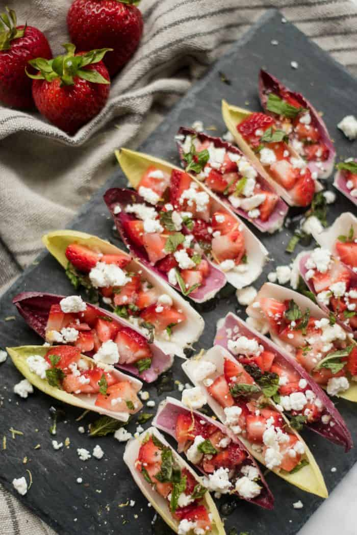 Endive with Strawberry Mint Honey Recipe