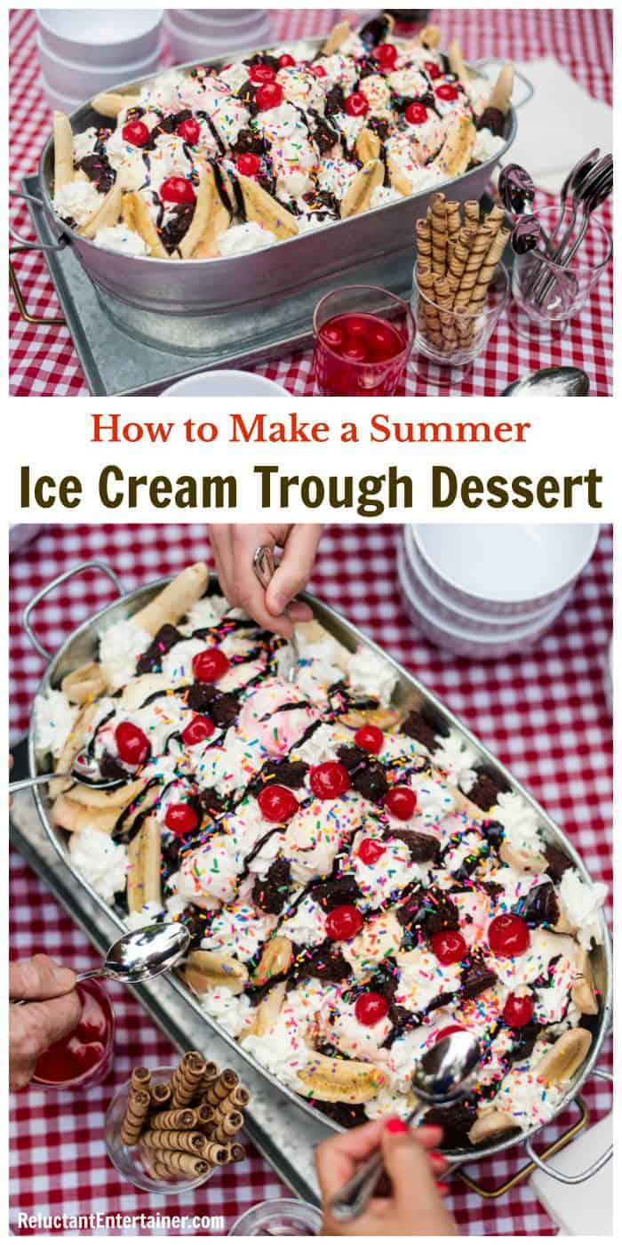How to Make a Summer Ice Cream Trough Dessert Shopping LIST