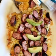 Nacho Cheese Recipe with Sausage and Sauerkraut