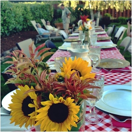 Sunflower table