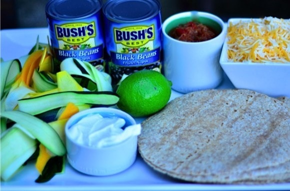 Bush's Black Bean Burrito with Cheese and Summer Squash