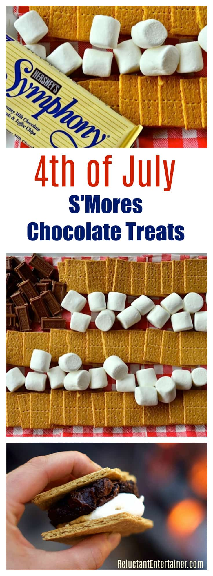 4th of July S'Mores Chocolate Treats