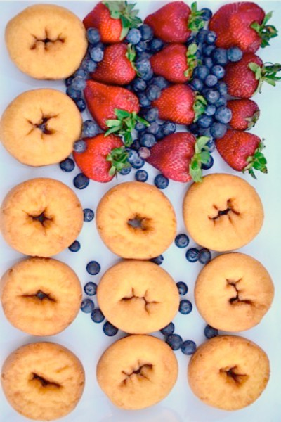 Grilled Cake Donuts with Berries + 4th of July Menu