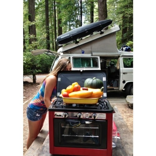Glamping Camp Chef oven
