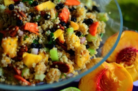 Quinoa and Oregold Peach Salad