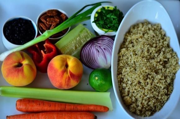 Quinoa and Oregold Peach Salad
