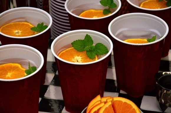 Creamsicle drink in Solo Cup