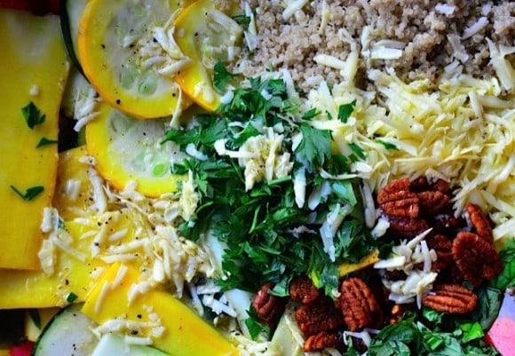 Zucchini Summer Squash Salad with Quinoa