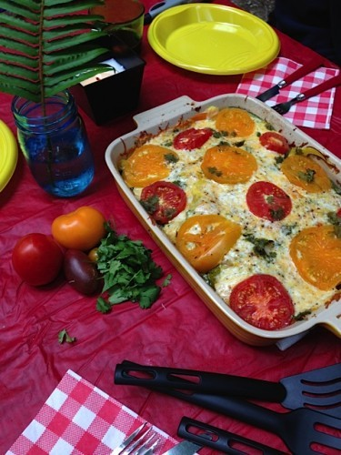 Healthy Summer Squash Casserole from Reluctant Entertainer [Recipe Round-Up at A Little Seed Grows]