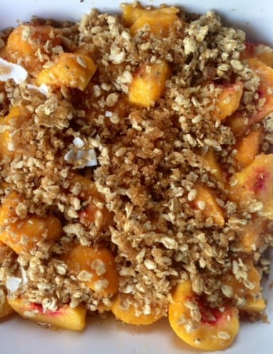 Granola Peach Crisp | Reluctant Entertainer