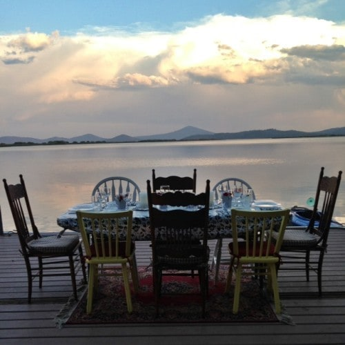 Dinner on the lake
