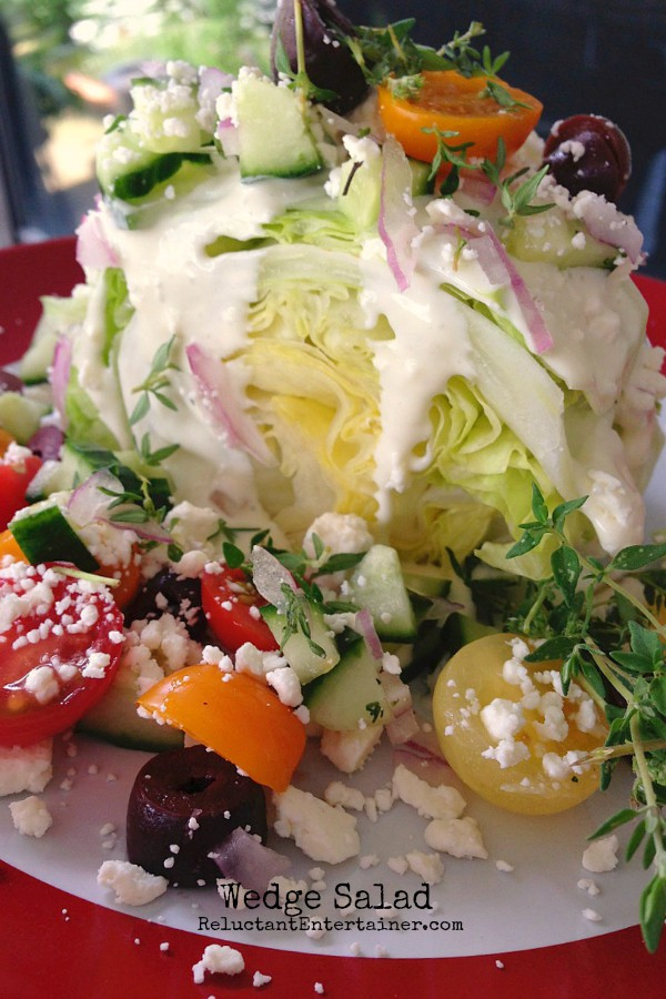 Wedge Salad | reluctantentertainer.com