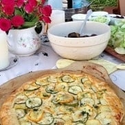 Summer Zucchini Galette reluctantentertainer.com