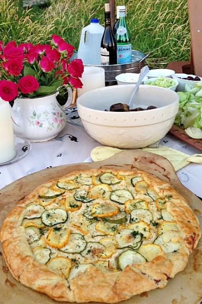 Summer Zucchini Galette reluctantentertainer.com