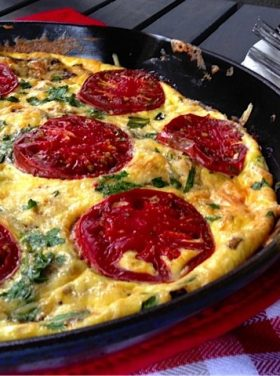 Mushroom & Tomato Frittata | Reluctant Entertainer.com