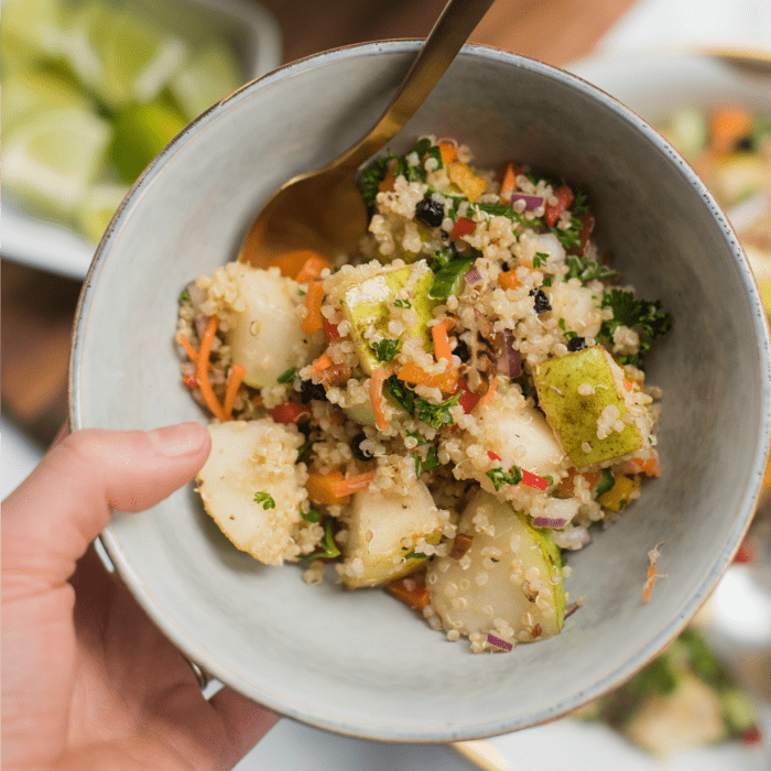Juicy Delicious Pear Quinoa Salad