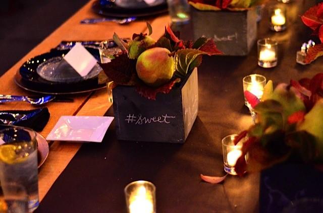 Pear Chalkboard Table Setting