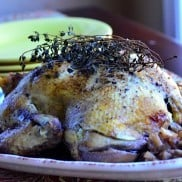 Balsamic Roast Chicken with Thyme