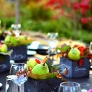 Pear Chalkboard Table Setting