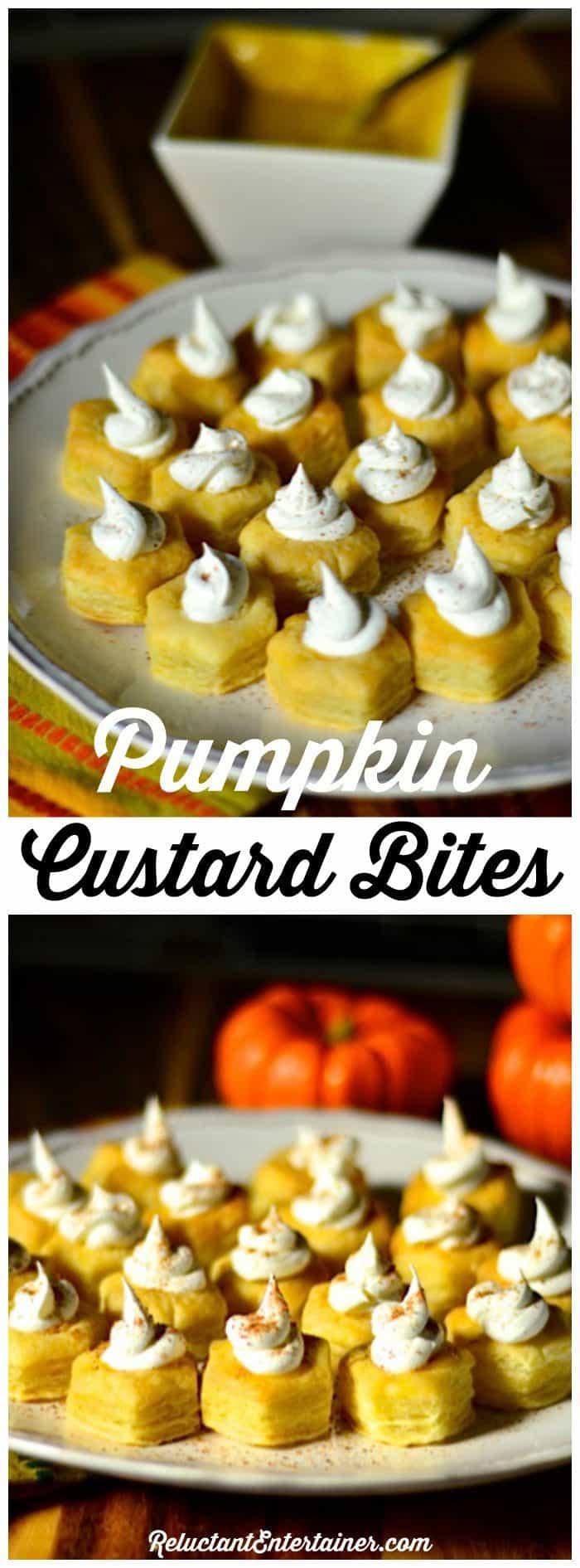 Pumpkin Custard Bites