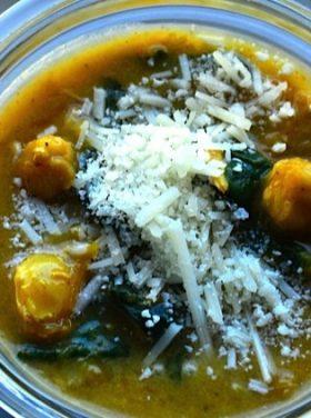 Chicken Butternut Spinach Soup