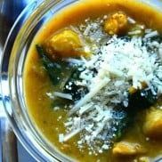 Chicken Butternut Spinach Soup