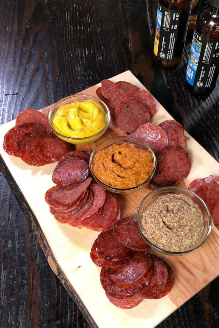 Easy Baked Salami Chips