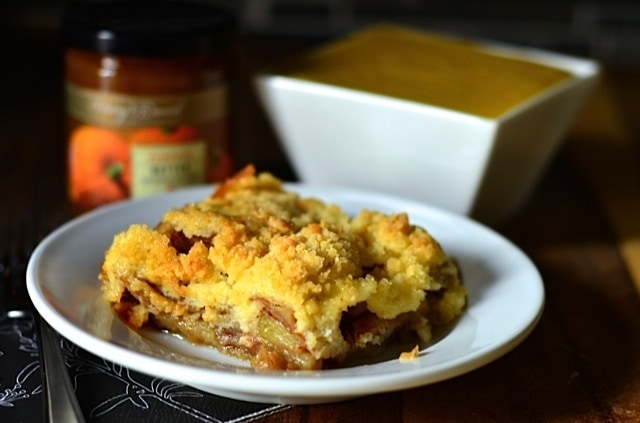 Apple Cake with Pumpkin Custard