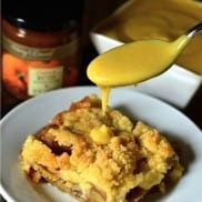 Apple Cake with Warm Custard