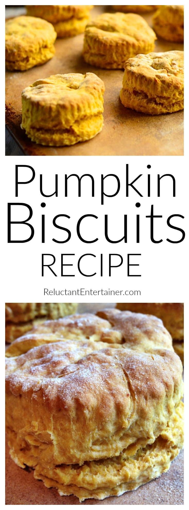 Pumpkin Biscuits at ReluctantEntertainer.com