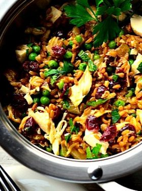 Turkey Farro Cranberries Recipe