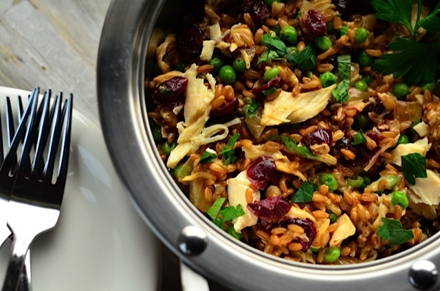 Turkey, Cranberries and Farro