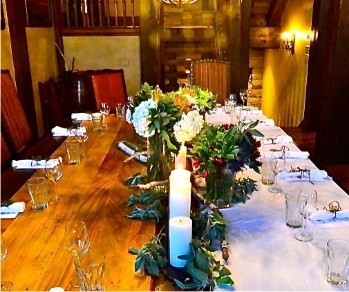 Holiday Wood and Linen Tabletop
