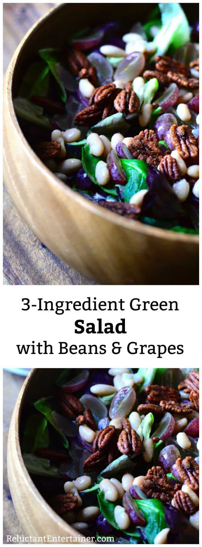 3-Ingredient Green Salad Beans Grapes