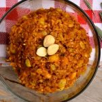 Cheesy Pumpkin Farro with Marcona Almonds