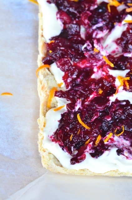 Cranberry and Orange Shortbread