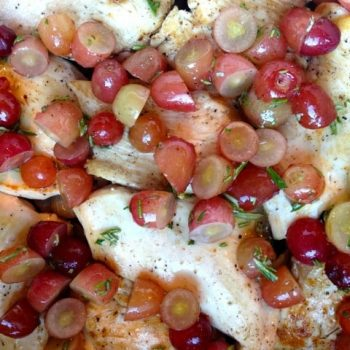 Roasted Chicken, Grapes and Rosemary