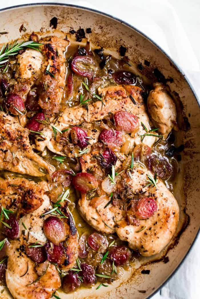 Best Roasted Chicken Grapes Rosemary