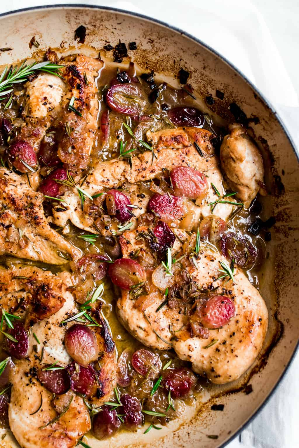 Roasted Chicken Grapes Rosemary Recipe Reluctant Entertainer