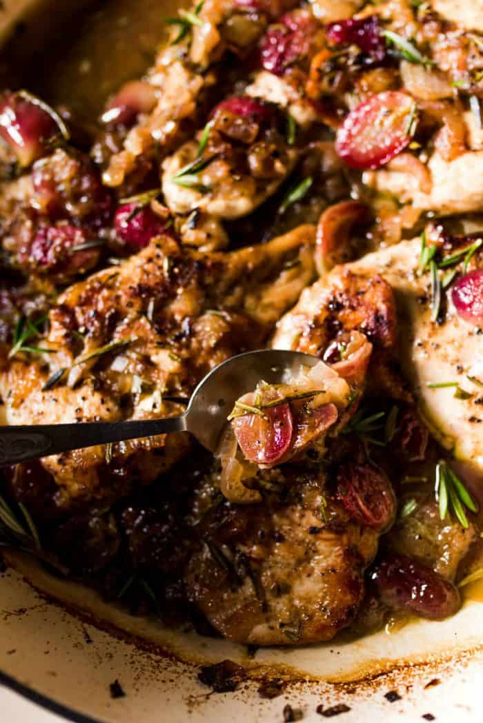 Easy Roasted Chicken Grapes Rosemary Recipe