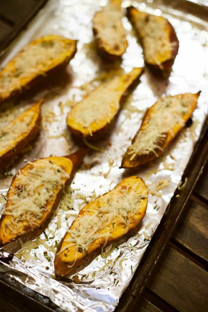 Roasted Sweet Potatoes with Rosemary - oven