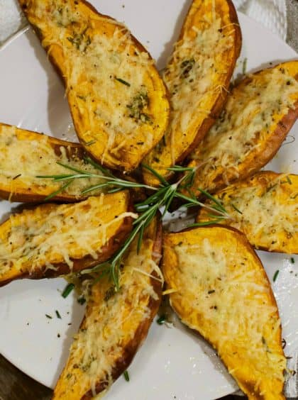 Roasted Sweet Potatoes with Rosemary
